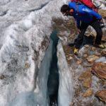 Ghiacciaio dei Forni - Rilievo dei mulini glaciali