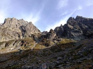 Le belle montagne che formano l'anfiteatro della parte alta della valle