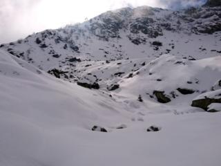 Il sottile ma gradevole manto di neve che ha coperto il Monte Mucrone