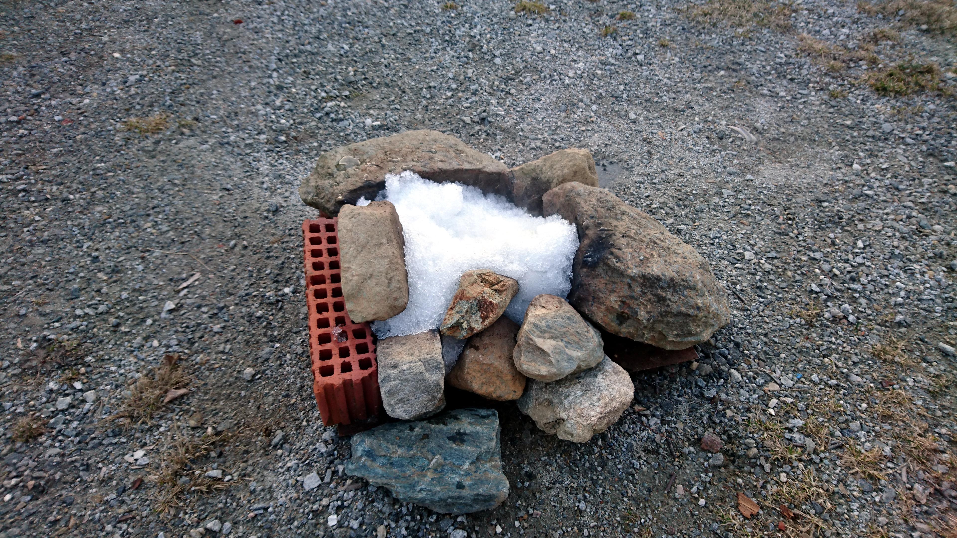 il fuocherello ha terminato la sua funzione, spegnamo le braci con la neve e ci prepariamo per la cena