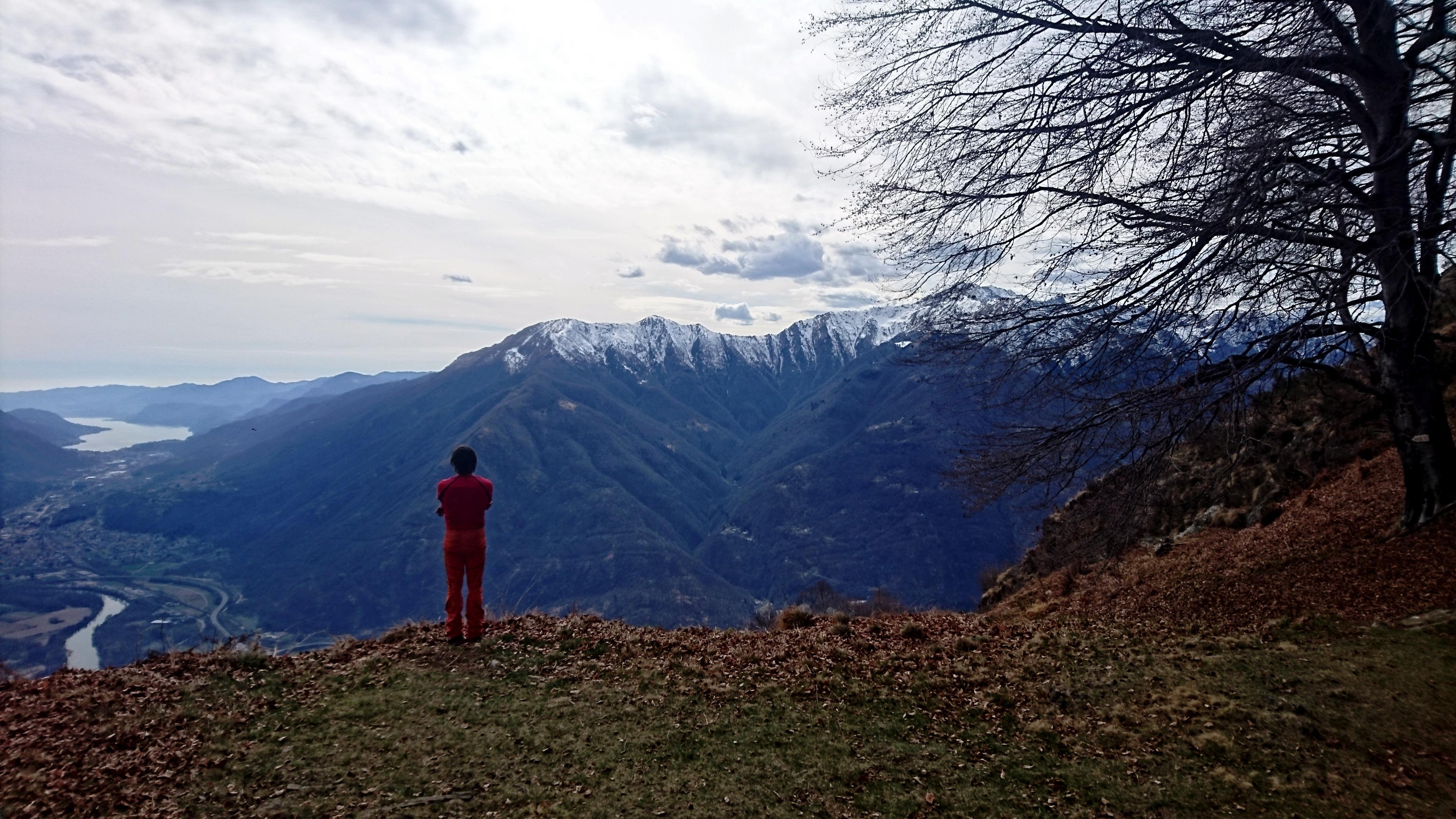 ultimo sguardo prima di proseguire verso la cima del Monte Fajè
