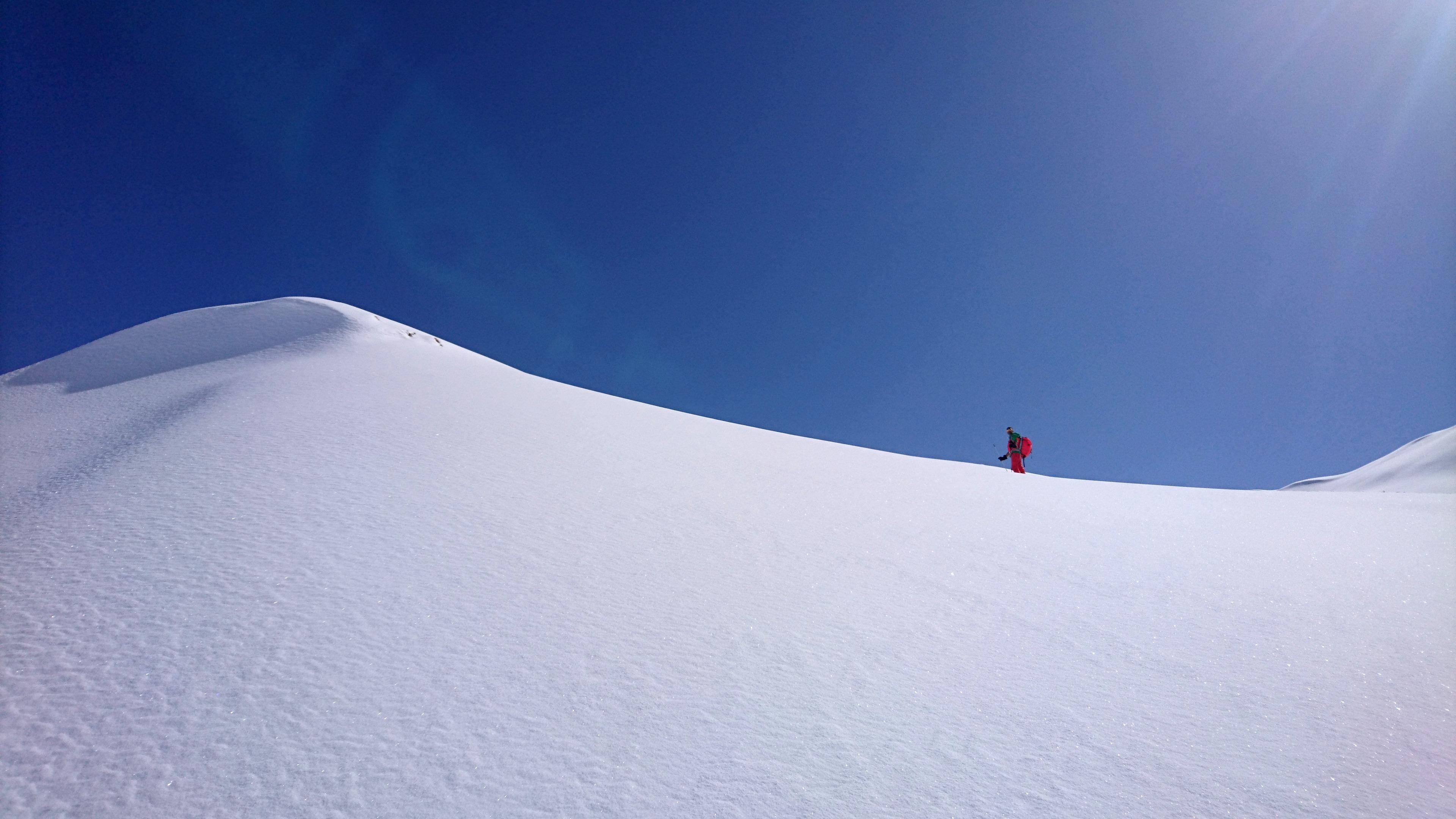 Paolino e le rimonte su docili poppe nevose