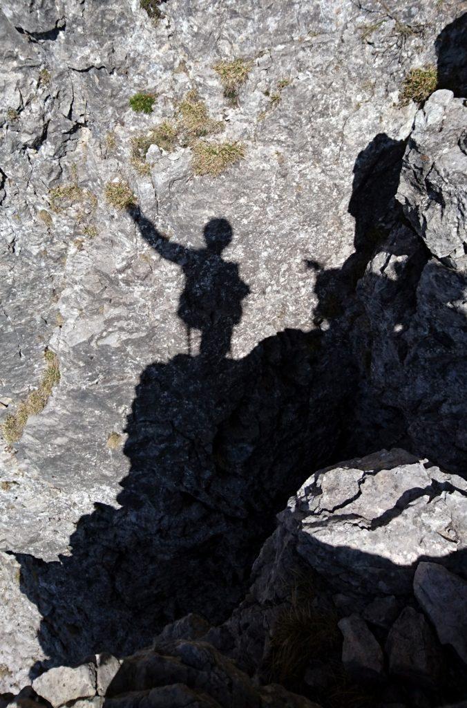 La mia ombra una volta uscito dal camino e raggiunta la terza sosta