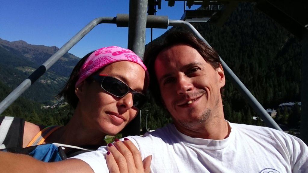 selfie sulla seggiovia: oggi ce la prendiamo comoda