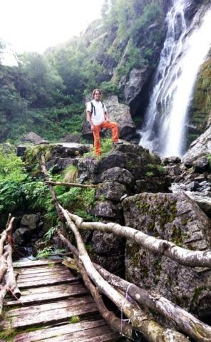 Fotina pagliaccia anche per me con la cascata della Merdarola