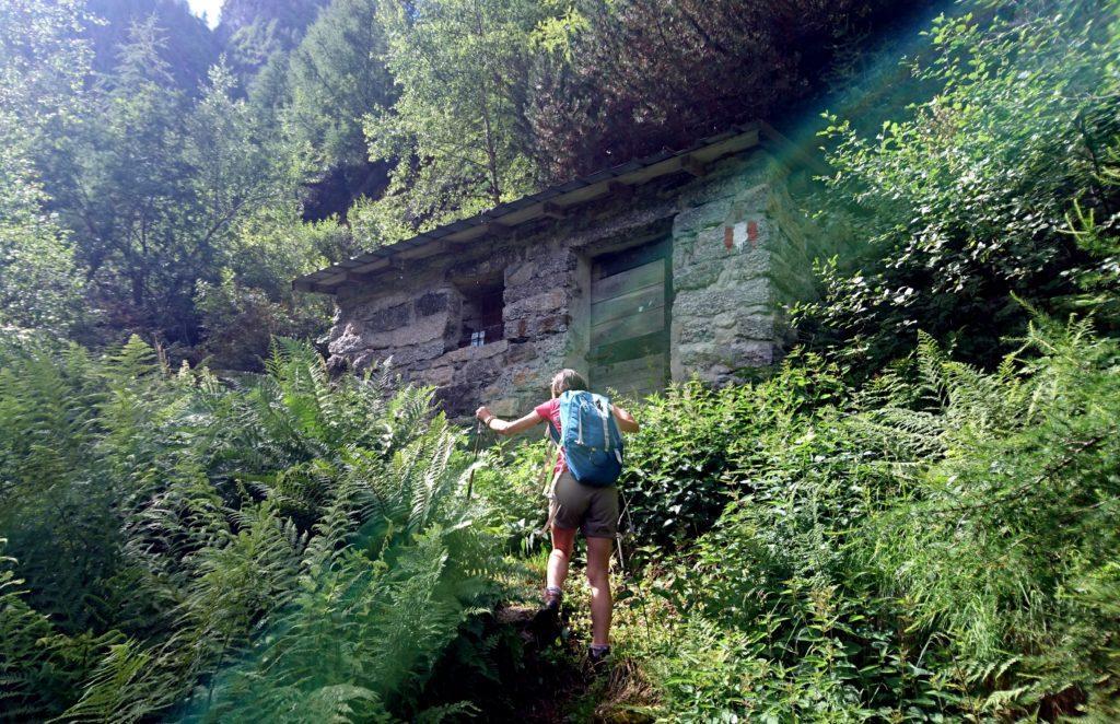 Poco a monte degli asini, dopo aver ciccato brevemente il sentiero, eccoci ad una piccola casetta in pietra che funge da rifugio per i pastori