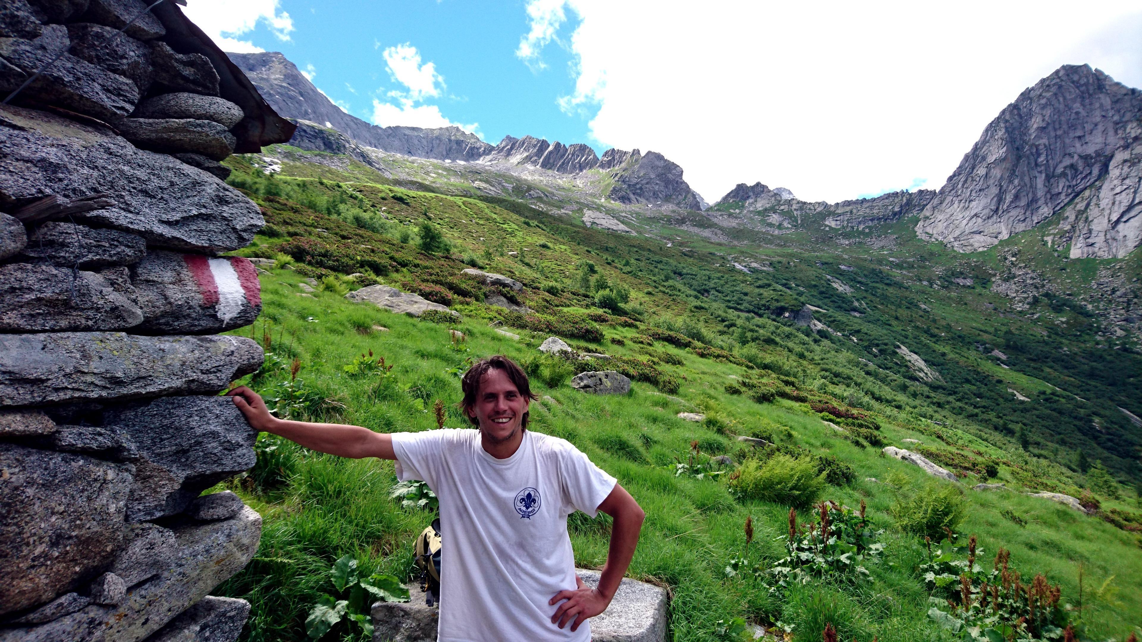 Gab soddisfatto ma bello sudato alla prima casetta dell'alpe Merdarola