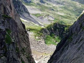 Vista dalla bocchetta di Medaccio in direzione nord. Da qui, scenderemo