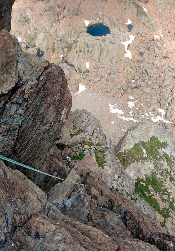 Vista dall'alto dopo l'uscita dal camino del decimo tiro