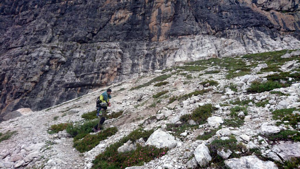 La cosa bella del Castelletto Inferiore è che si raggiunge in soli 5 minuti di camminata dal rifugio Tuckett
