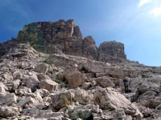 Vista della parete del Castelletto da cui ci siamo calati