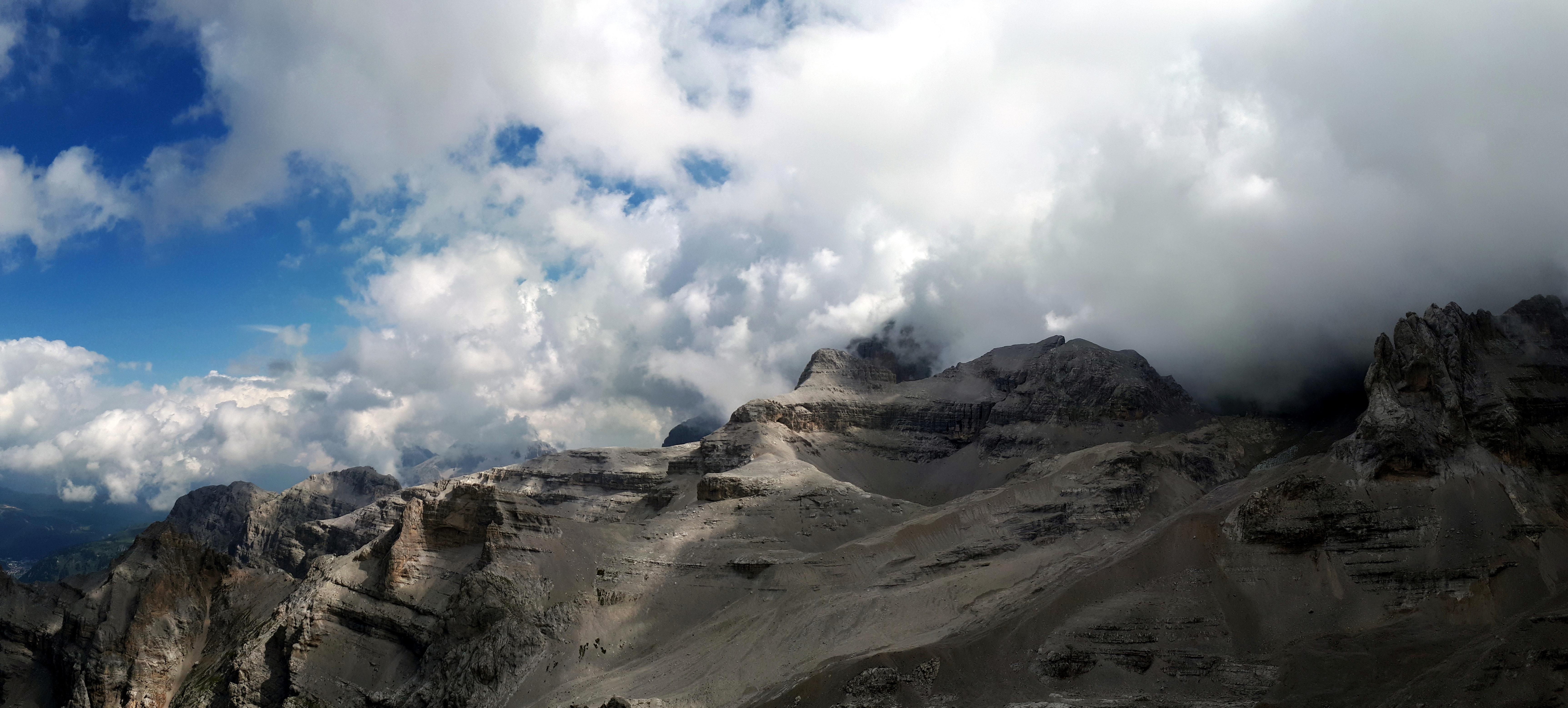 Panoramica verso ovest dalla nostra cima