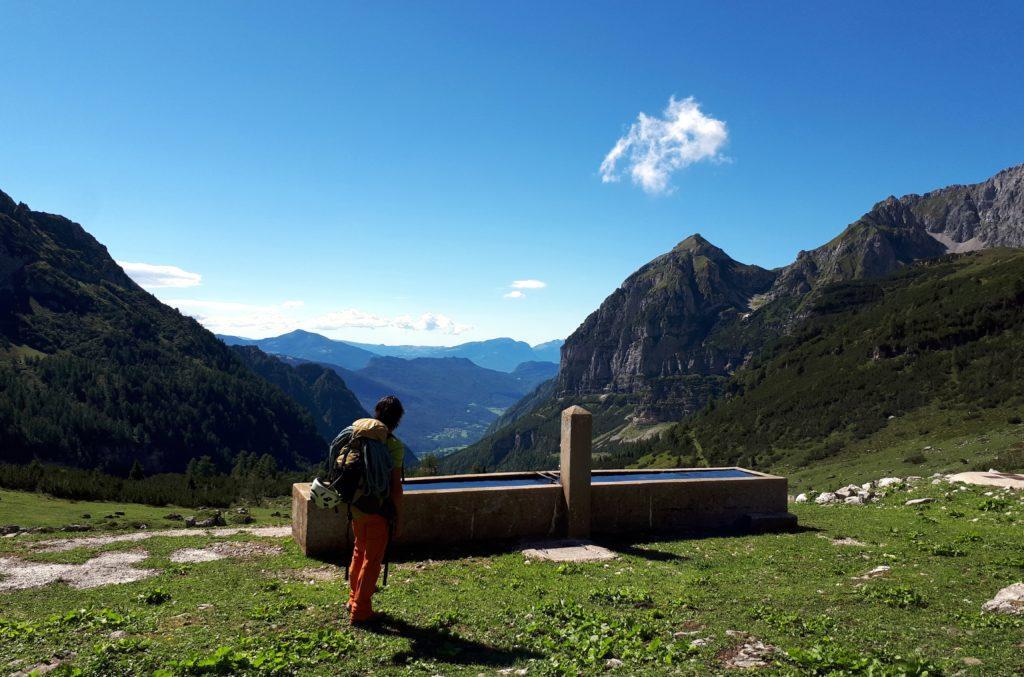 Il panorama sulla Valle d'Ambiez è eccezionale