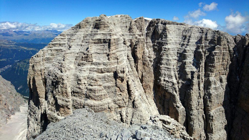 la Cima Tosa vista dalla Cima d'Ambiez: è solo qualche metro più alta