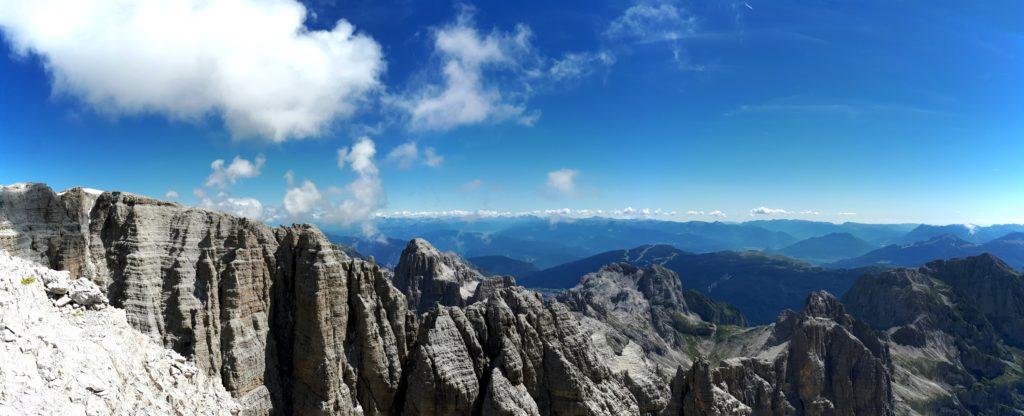 panorama delle cime sul lato destro della vedretta d'Ambiez