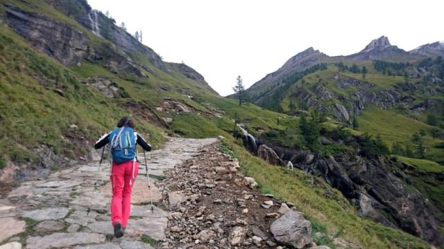la mulattiera gippabile che sale fino all'Alpe Veglia