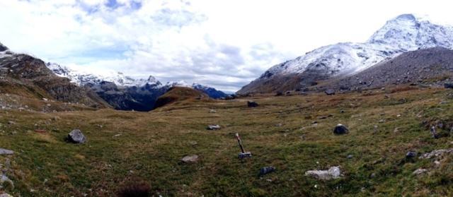 panoramica guardando verso valle