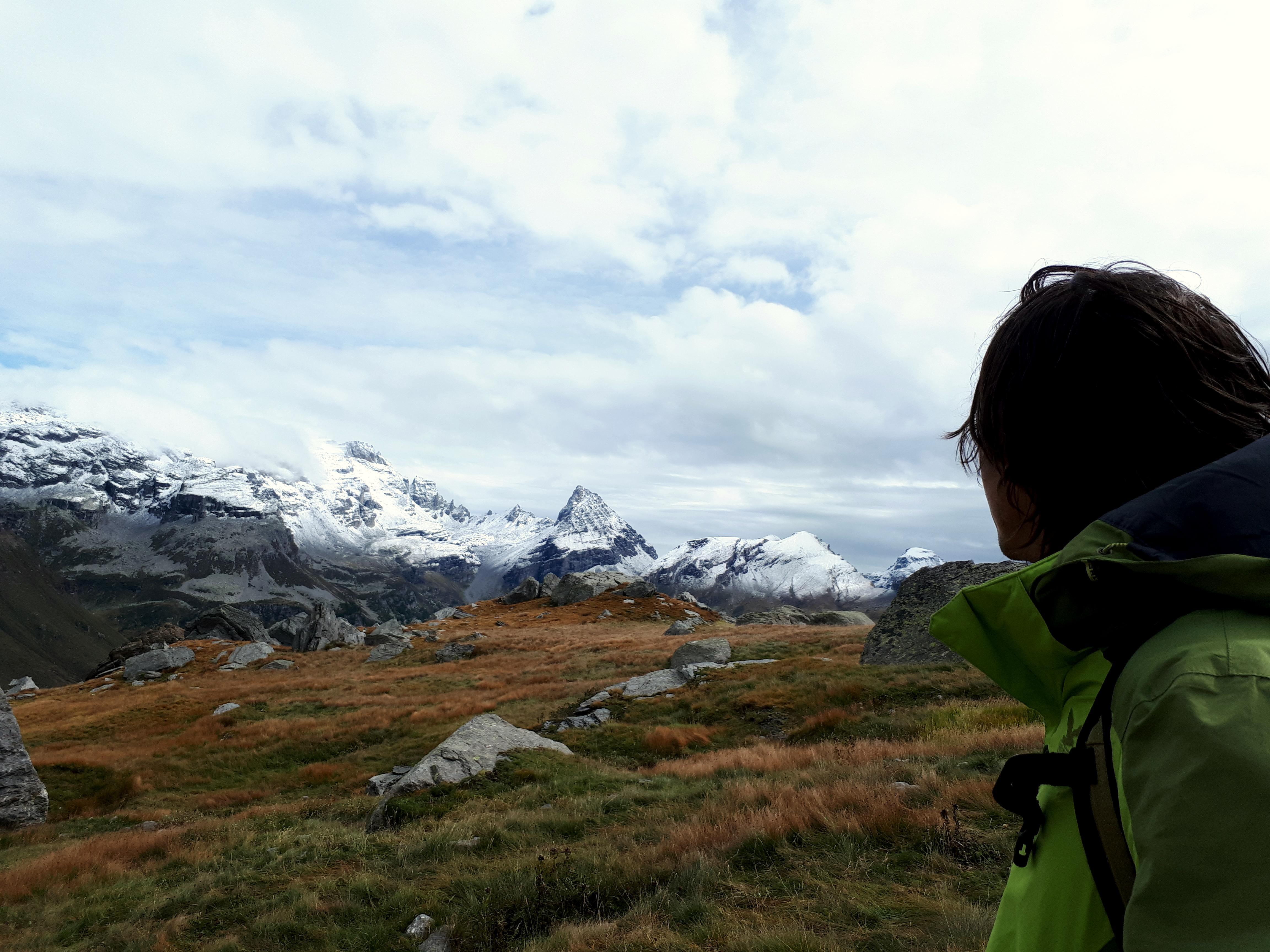 uno sguardo alle cime in direzione dell'Alpe Devero