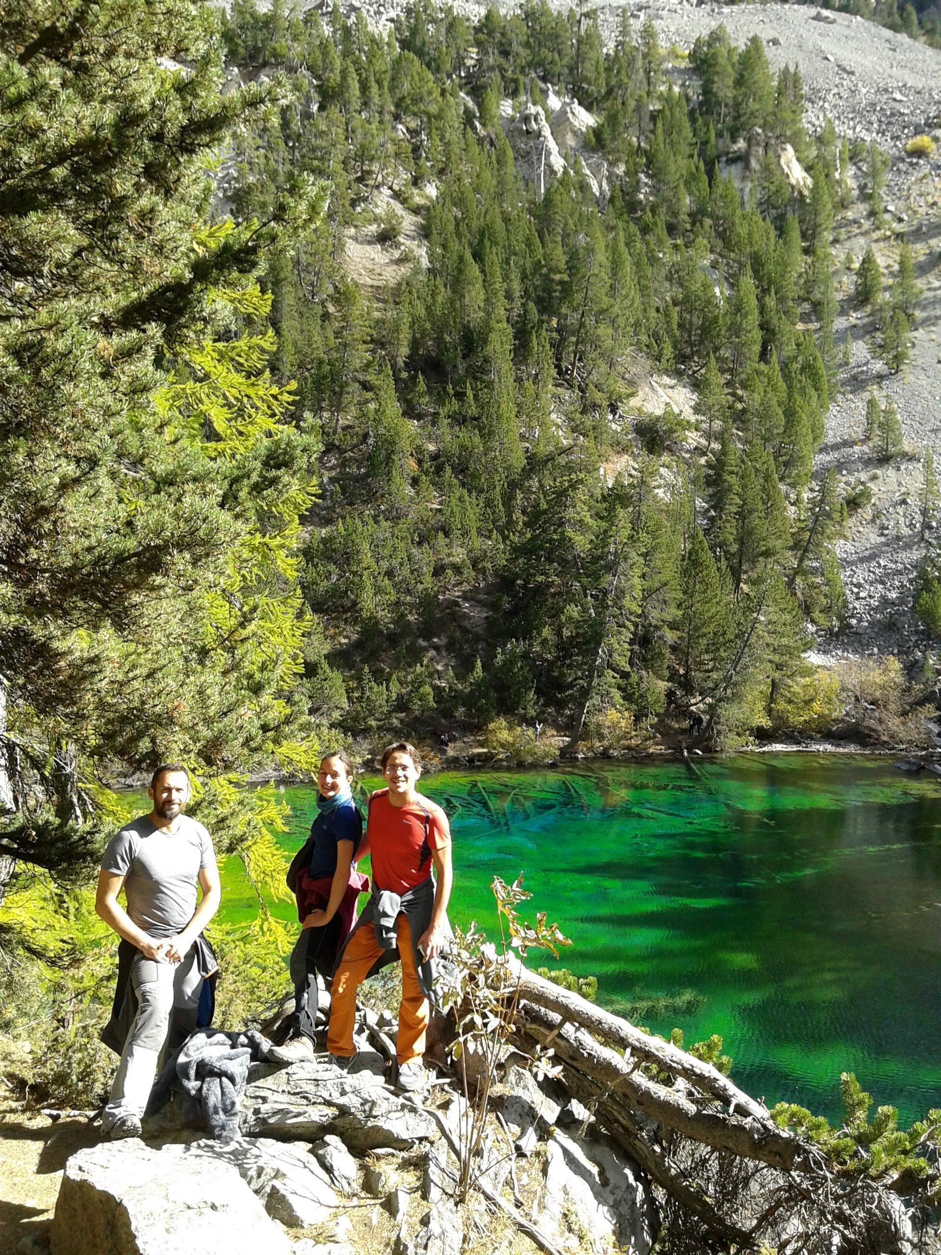 Eccoci in vista del lago Verde. Che dire......WOW!!!!!