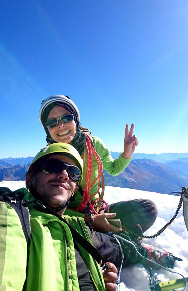 Selfie della nostra cordata sulla vetta del Cambrena!
