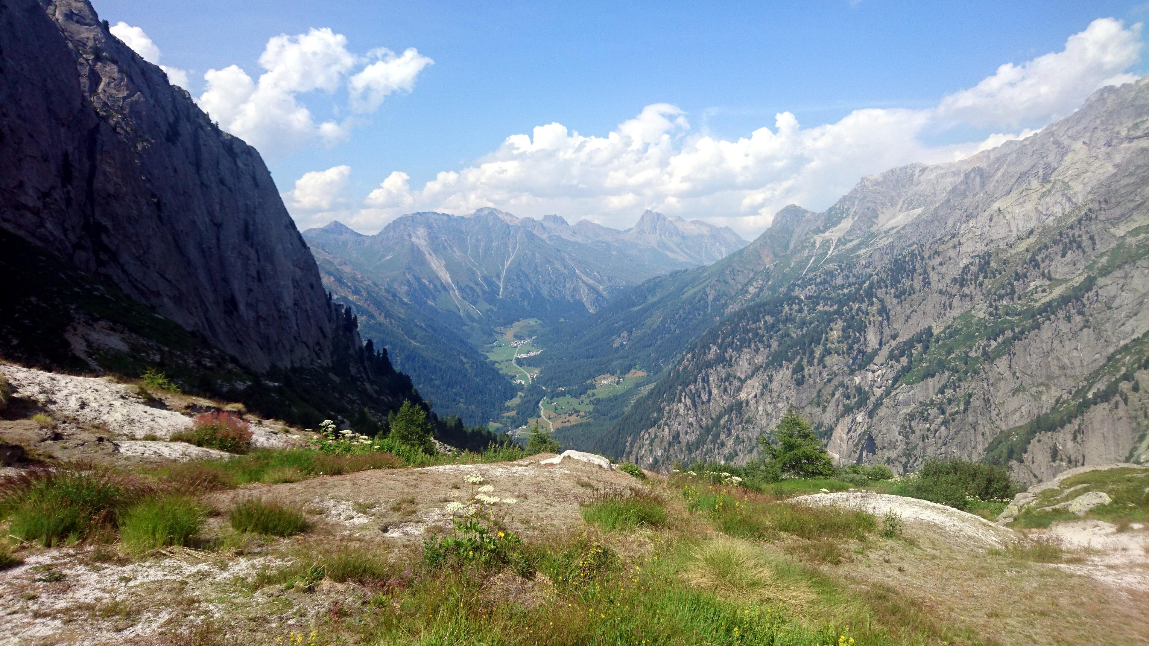 Vista verso la val Bregaglia