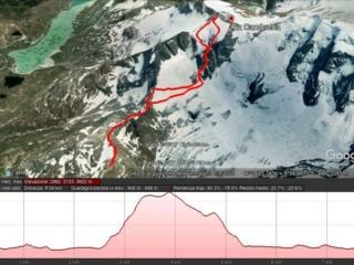 Mappa del nostro percorso riprodotto su google earth