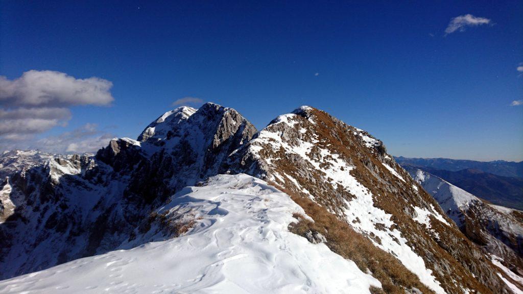 verso Cima del Fop e Monte Secco