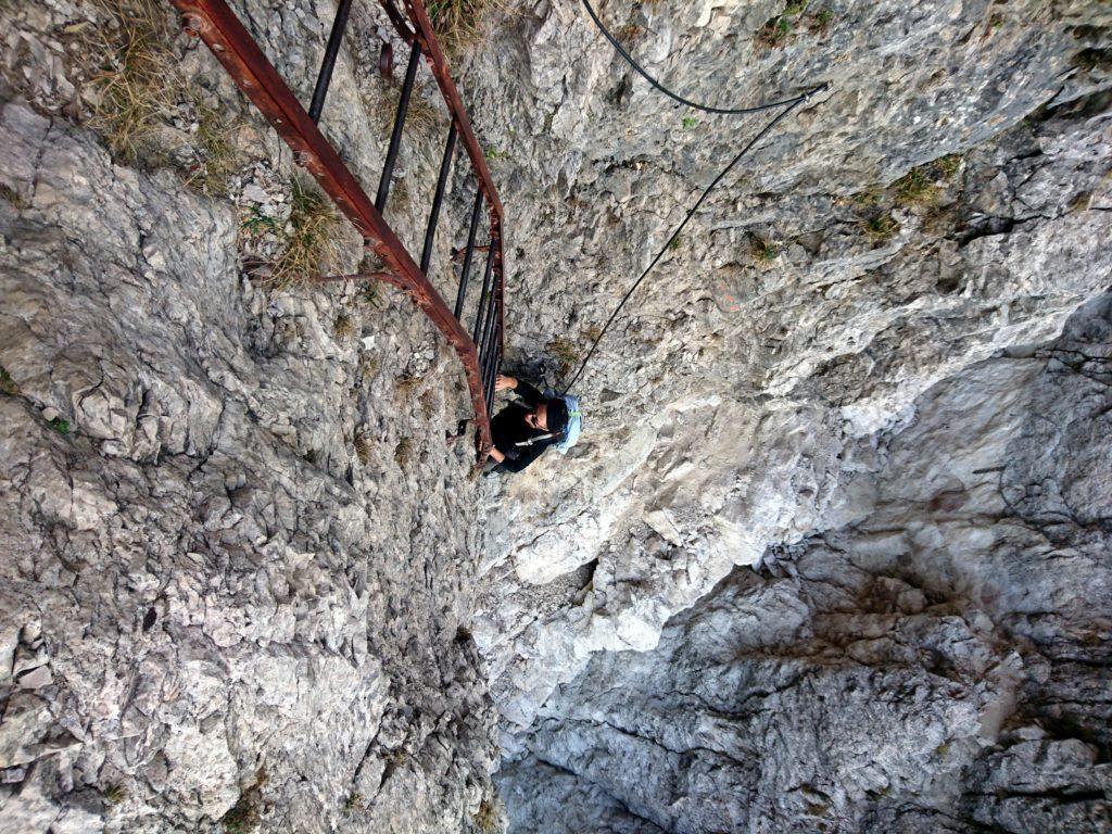 passaggio ferrato su scala fissa del Caminetto Pagani