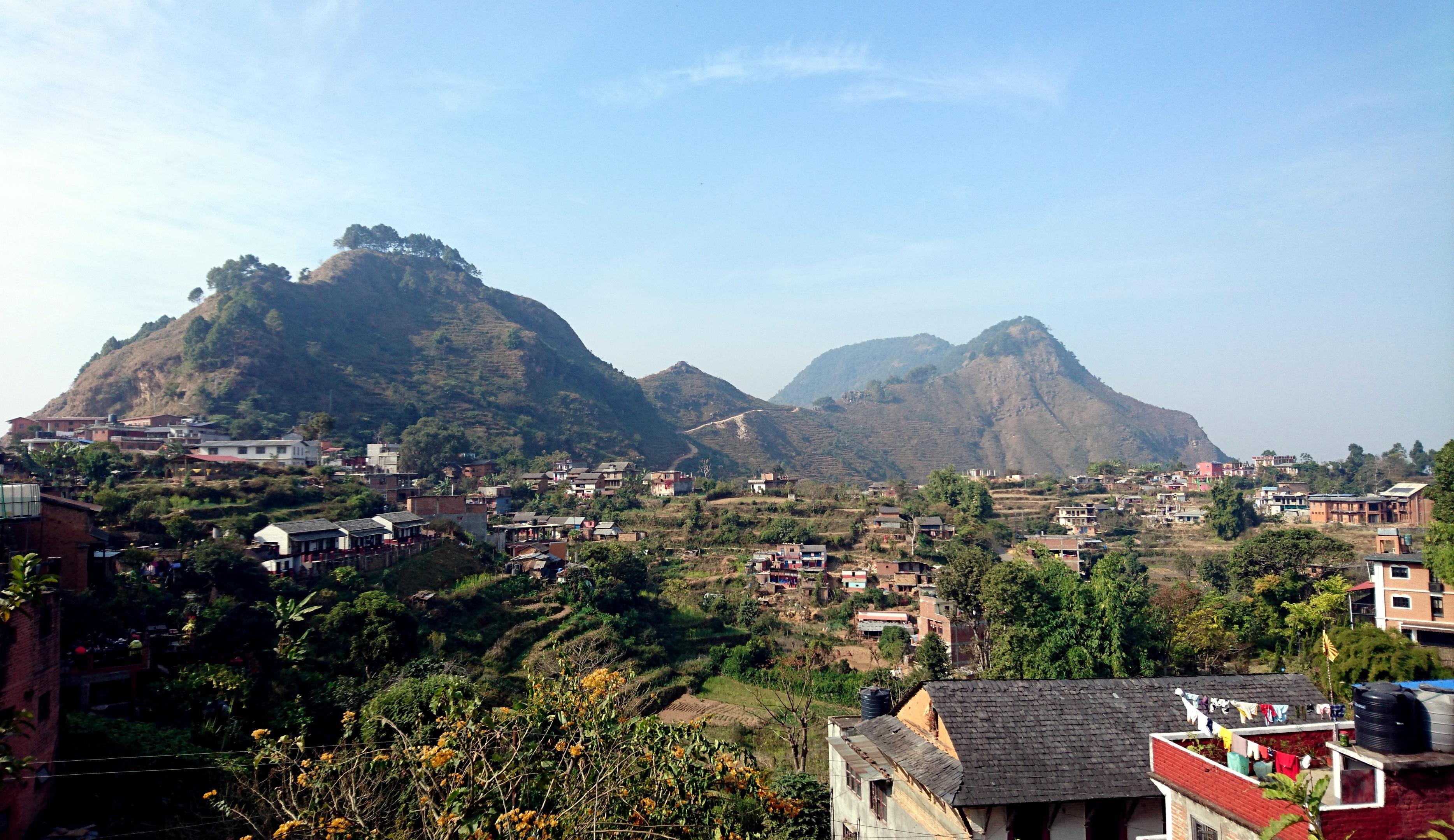 Vista dall'alto delle colline attorno a Bandipur