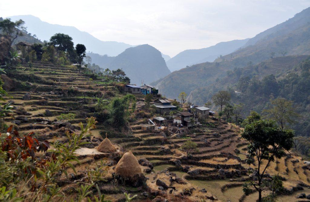 altri splendidi terrazzamenti sulla strada verso Ghermu, dove ci fermeremo a mangiare
