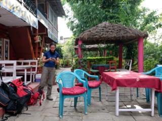 la colorata guest house dove abbiamo pranzato