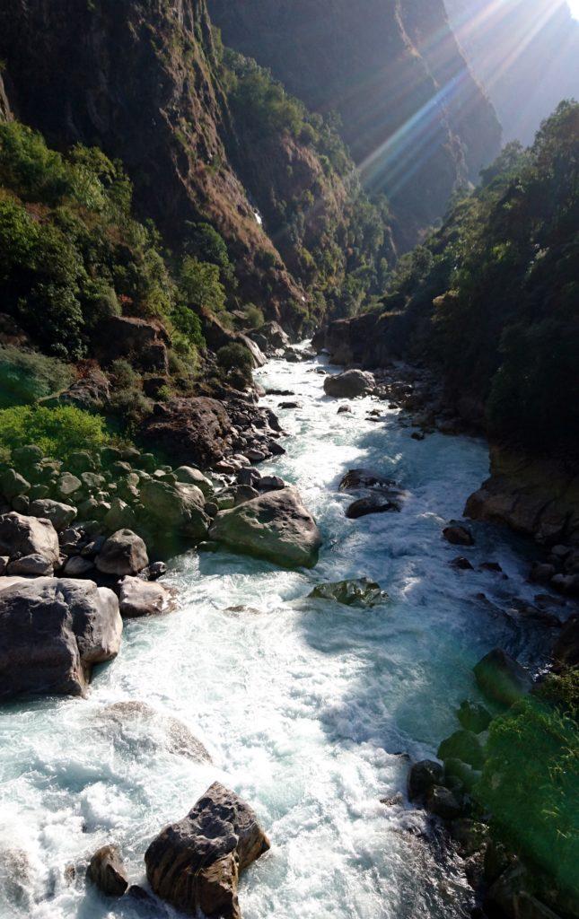 vista del canyon su cui stiamo attraversando