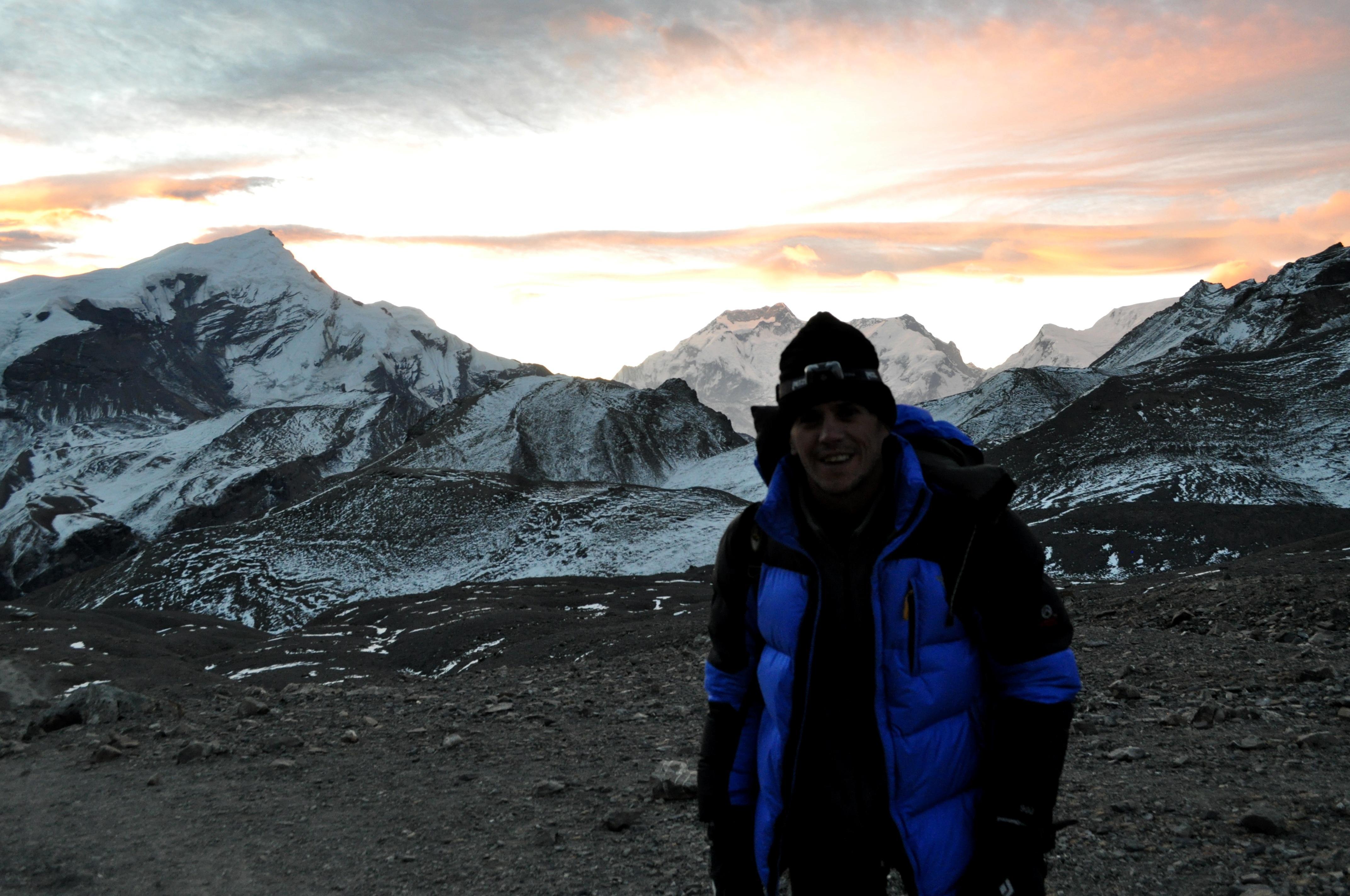 Gabriele e la sua alba Himalayana