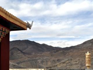 dalla cima del tempio buddista di Muktinath