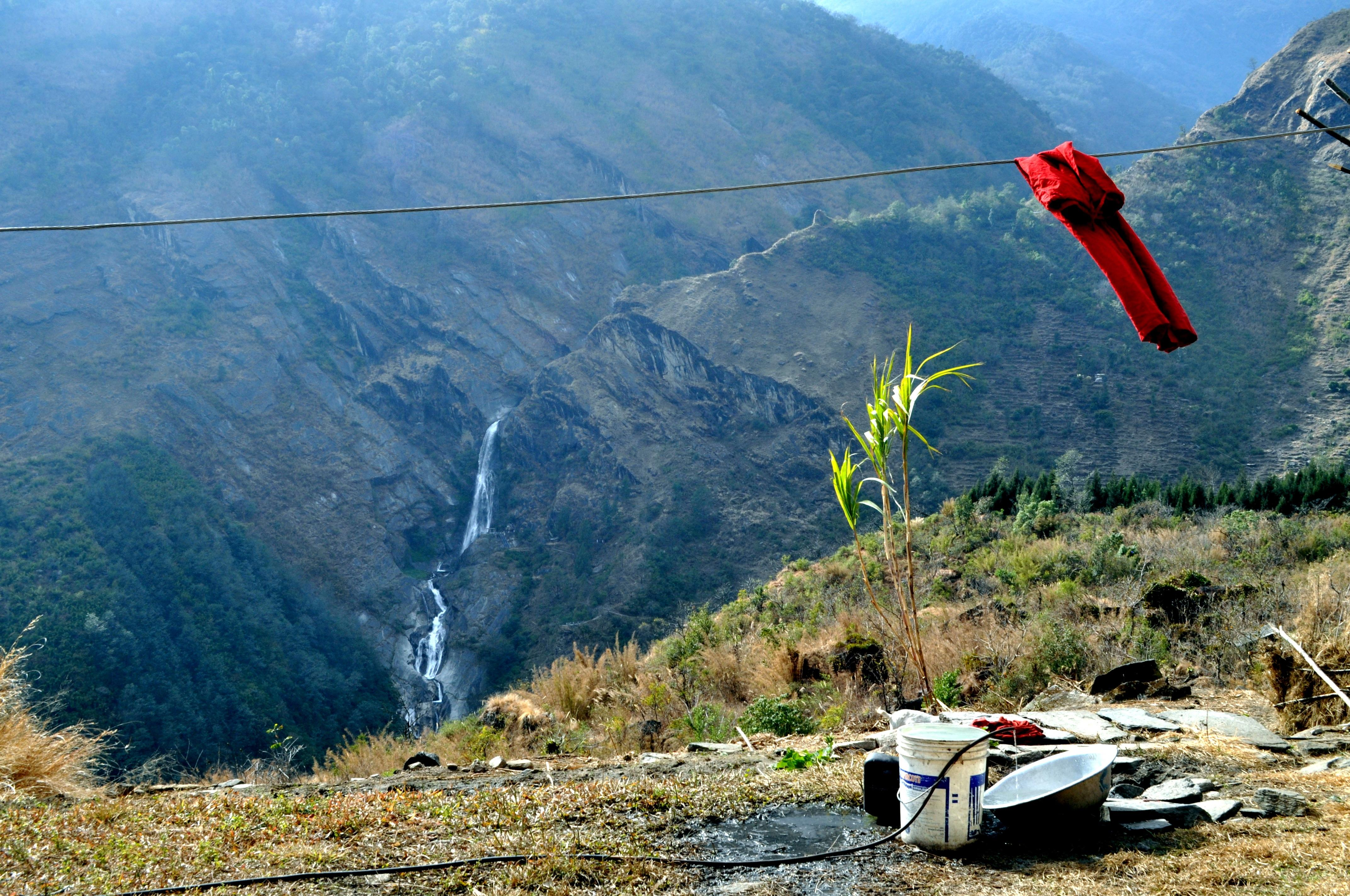 cascate lungo la valle del Kali Gandaki