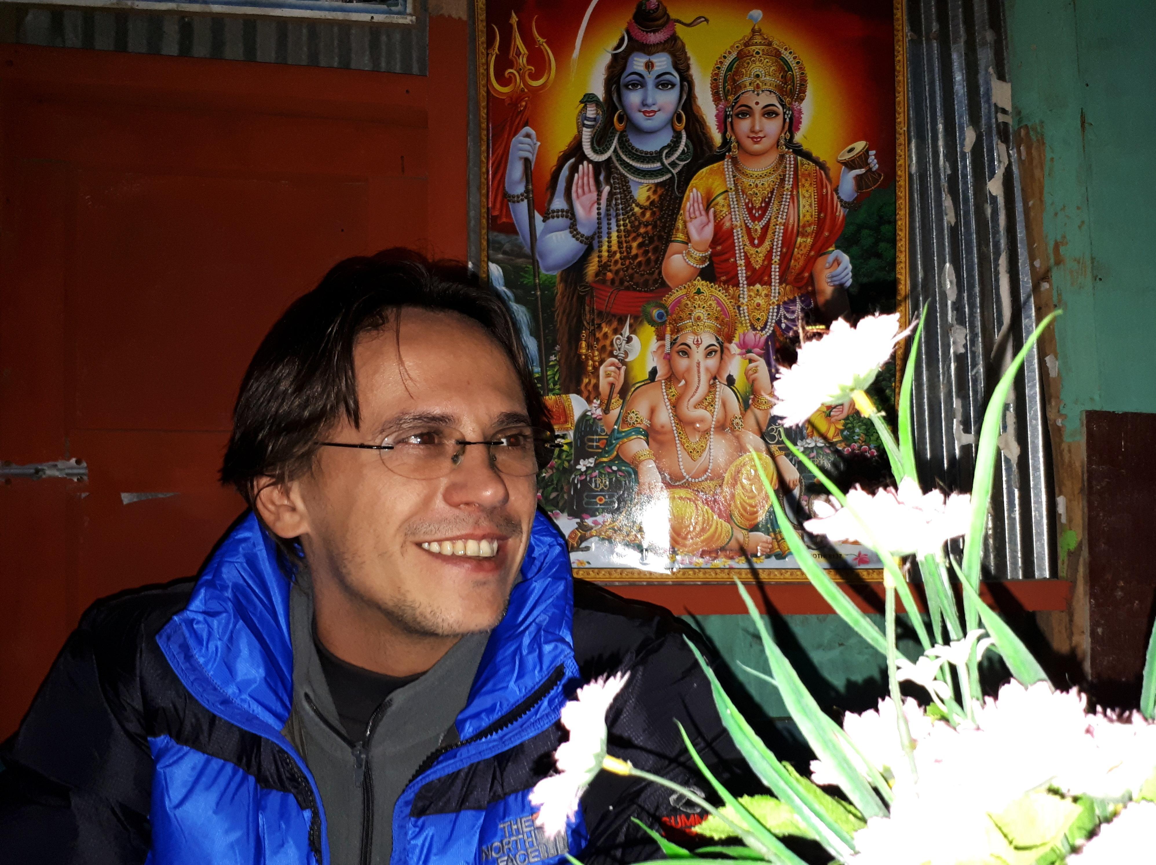 io con Vishnu, Shiva e Ganesha ;)