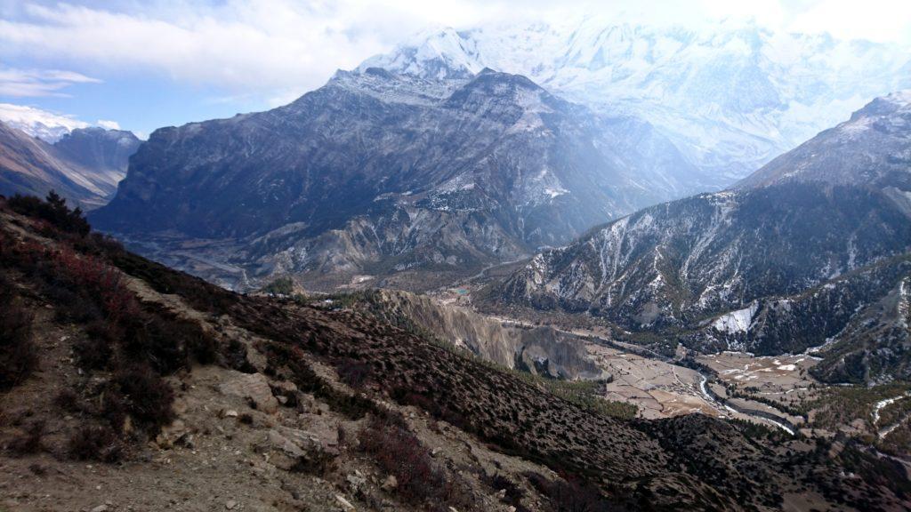 vista della valle di Marsyangdi: da qui super!