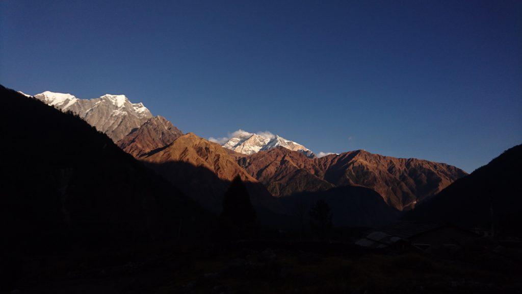 Annapurna I al tramonto