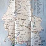 La mappa dei trekking dell'Annapurna. Il nostro è quello marrone