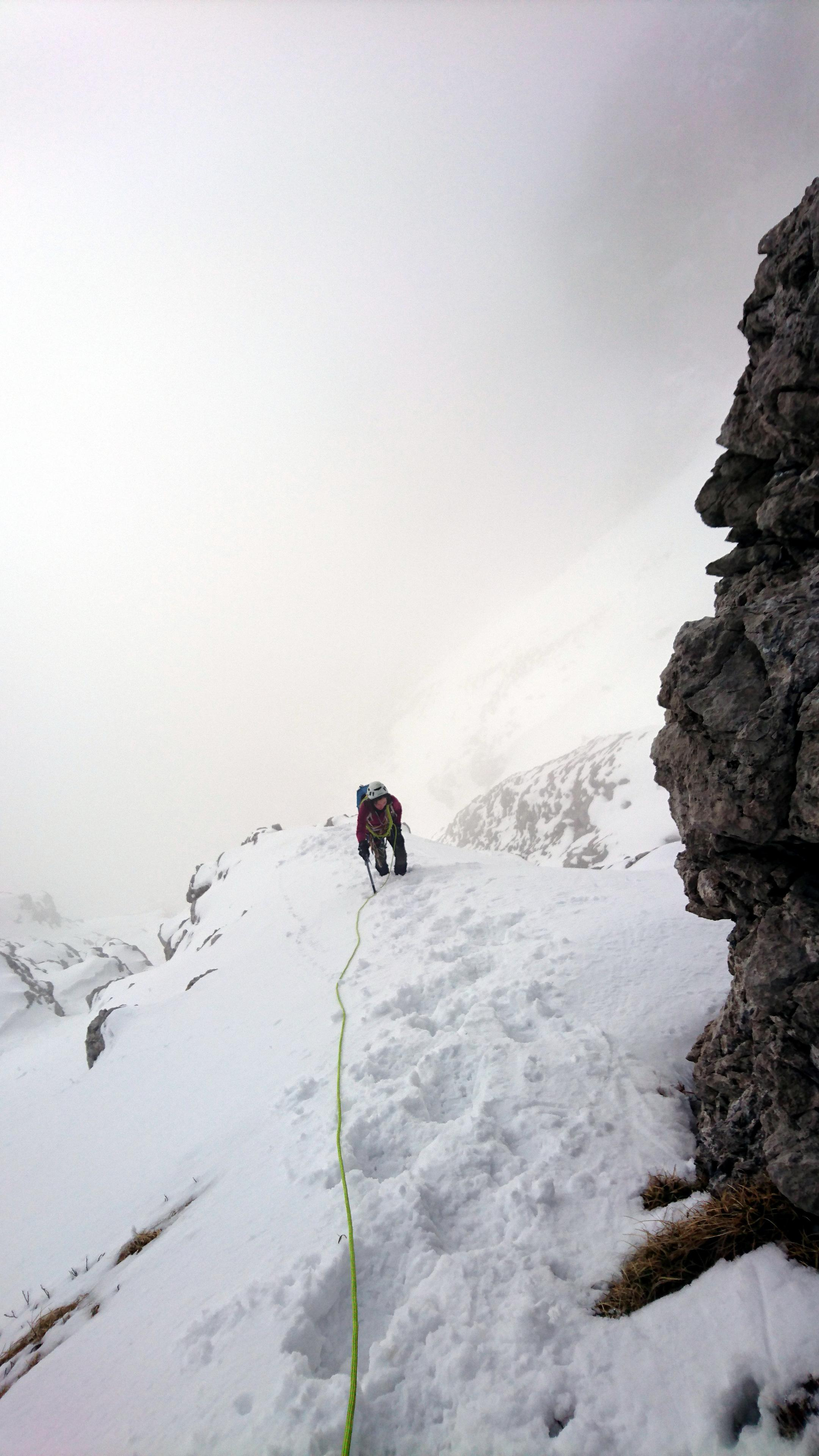 Ultima parte un po' ripida che porta verso il collegamento con la cresta Sinigaglia