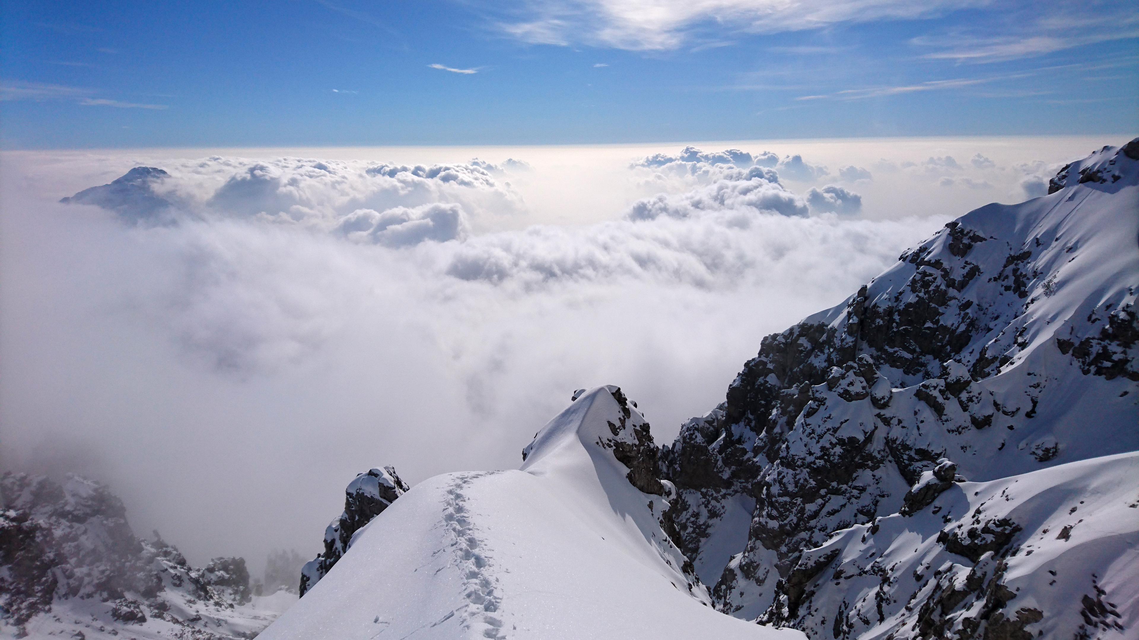 La vista verso valle è una meraviglia per gli occhi!!