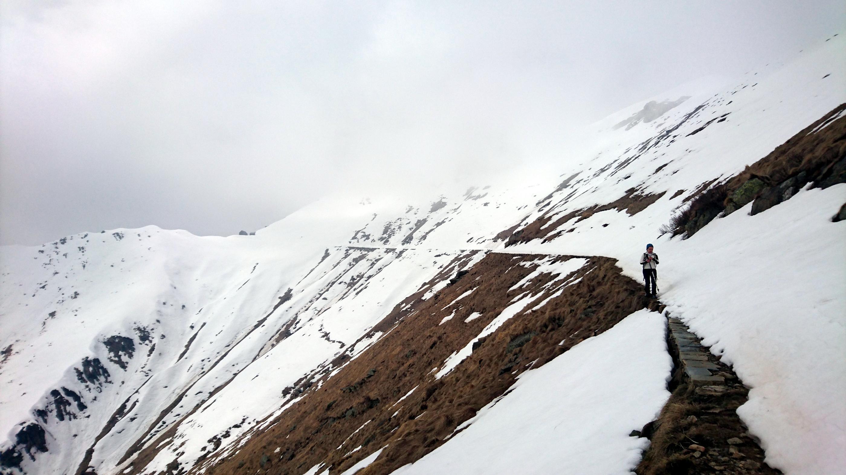 lungo la Linea Cadorna (sepolta dalla neve)