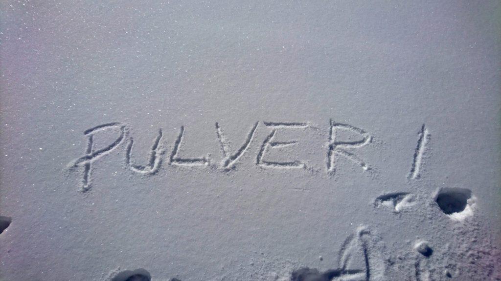Più ci alziamo e più la neve diventa spettacolare!