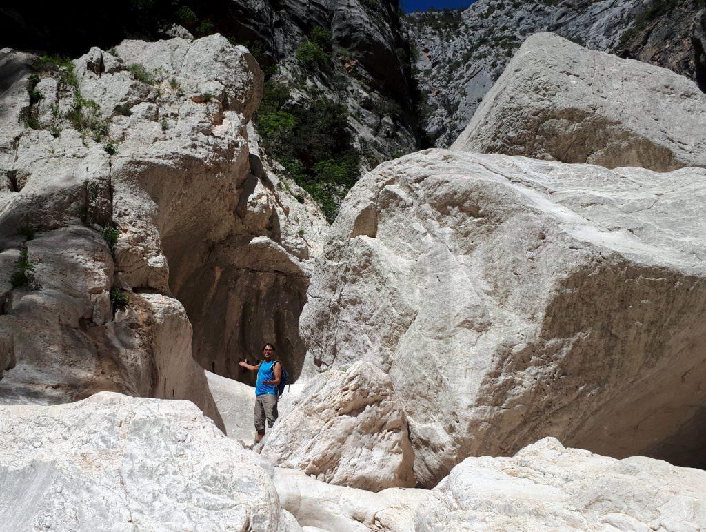 """siamo al limite della zona """"rossa"""" del percorso escursionistico all'interno del Canyon Gorropu"""