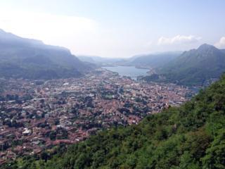 Vista di Lecco dalla prima sosta