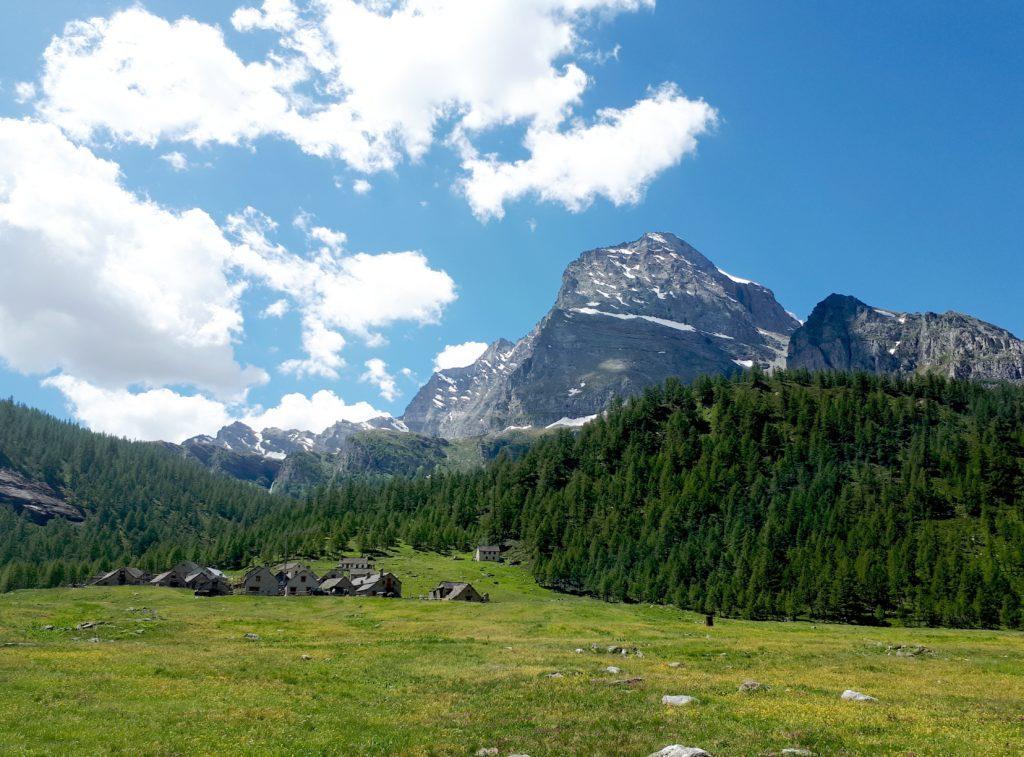 la piana dell'Alpe Veglia: ancora non hanno portato su le mucche... questione di giorni!