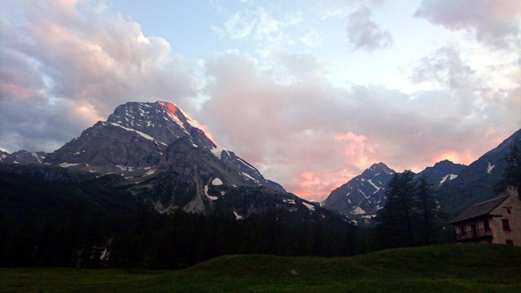 tramonto sul Monte Leone, dal'Alpe Veglia