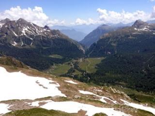 torniamo in vista del bacino dell'Alpe Veglia
