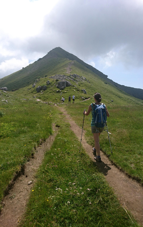 la cresta che attraverso un comodo sentiero conduce sulla vetta del Sodadura