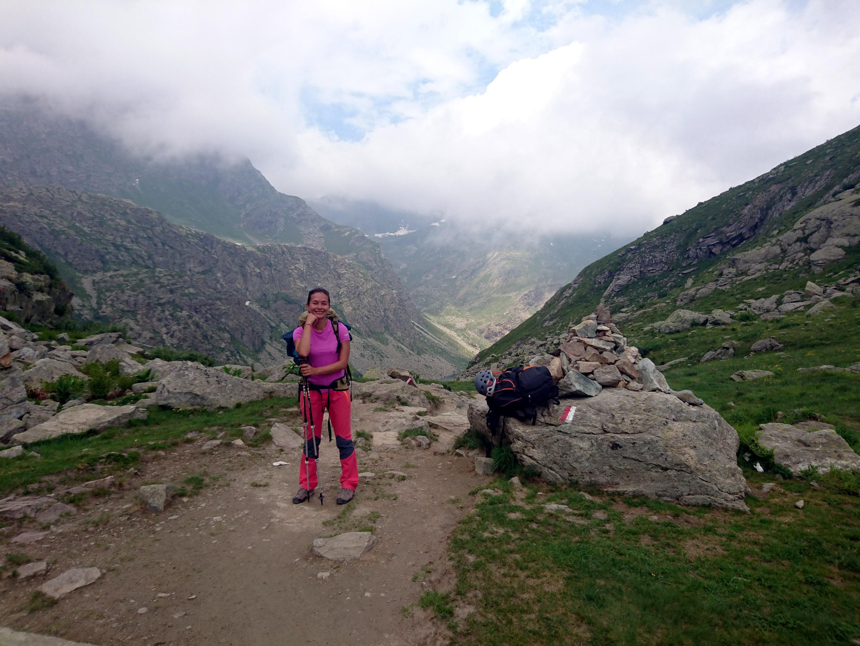 Erica al passo oltre il lago Fiorenza